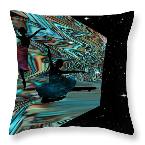 Dance Throw Pillow featuring the digital art Dancing With The Stars-featured In Harmony And Happiness Group by Ericamaxine Price
