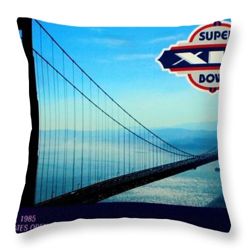 Super Bowl Throw Pillow featuring the photograph Dan's Chance by Benjamin Yeager