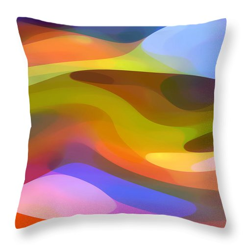 Abstract Art Throw Pillow featuring the painting Dappled Light 9 by Amy Vangsgard