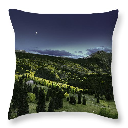 Landscape Throw Pillow featuring the photograph Dark Beauty by Bill Sherrell