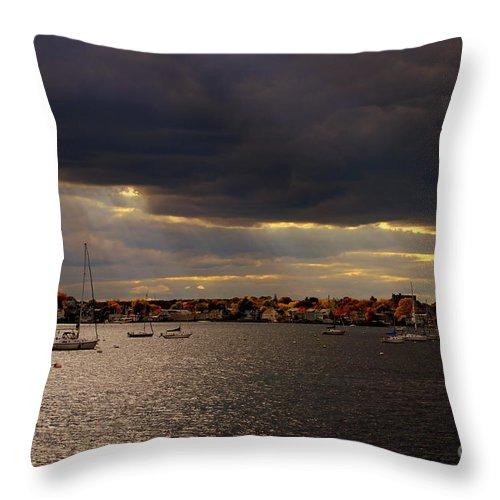 Throw Pillow featuring the photograph Dark Clouds by Lennie Malvone