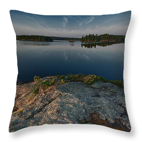 Scenic Throw Pillow featuring the photograph Darky Lake by Craig Voth