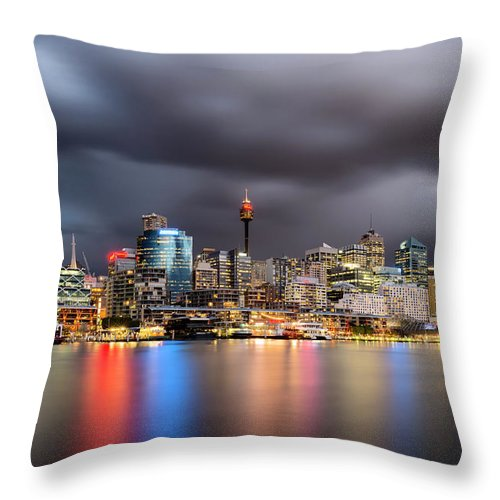 Outdoors Throw Pillow featuring the photograph Darling Harbour, Sydney - Australia by Atomiczen