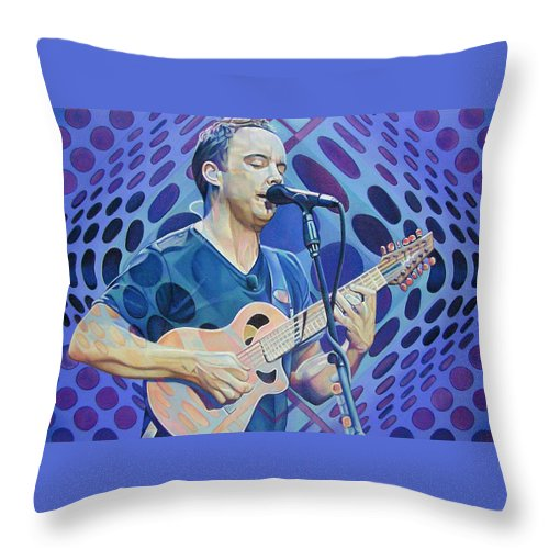 Dave Matthews Throw Pillow featuring the drawing Dave Matthews-op Art Series by Joshua Morton