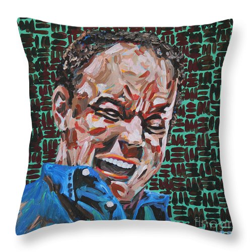 Dave Matthews Throw Pillow featuring the painting Dave Matthews Portrait by Robert Yaeger
