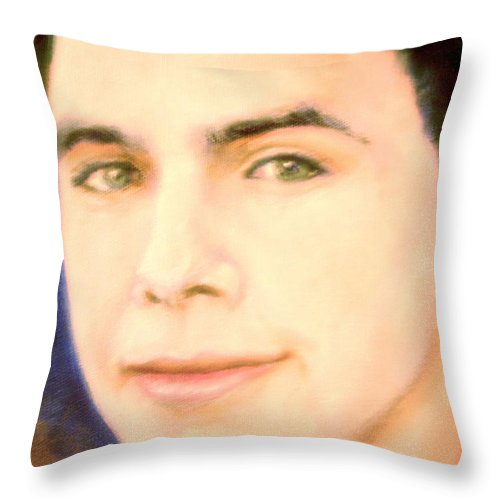 David Archuleta Throw Pillow featuring the painting David Archuleta by Leland Castro