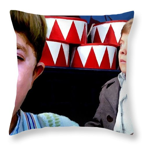 David Bennent Throw Pillow featuring the digital art David Bennent in the film The Tin Drum by Gabriel T Toro