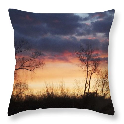 Dawn Throw Pillow featuring the photograph Dawn In The Catskills by Ellen Levinson
