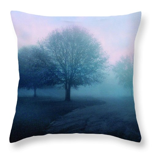 Trees Throw Pillow featuring the photograph Dawn by Jessica Jenney