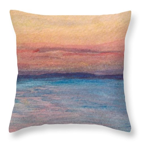 Troy Throw Pillow featuring the painting Dawn Over Troy by Katherine Shemeld