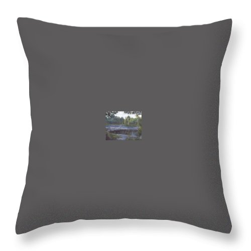 Dawn Throw Pillow featuring the painting Dawn by Sheila Mashaw