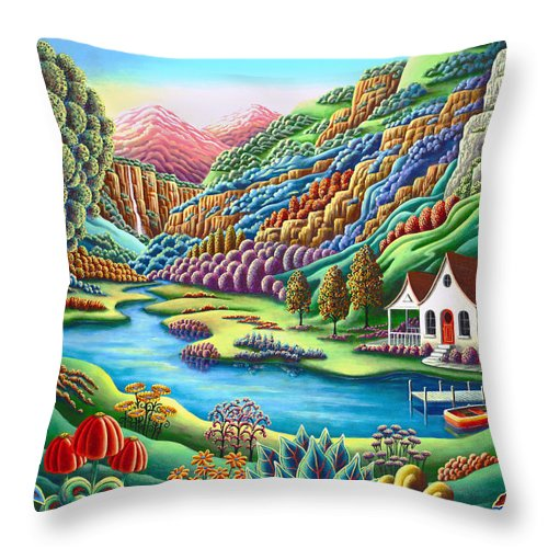Painting Throw Pillow featuring the painting Daybreak by MGL Meiklejohn Graphics Licensing