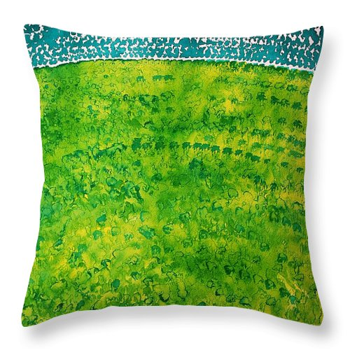 Dawn Throw Pillow featuring the painting Daybreak Original Painting by Sol Luckman