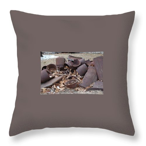 Iron Throw Pillow featuring the photograph Days Gone By by Susan Patrie