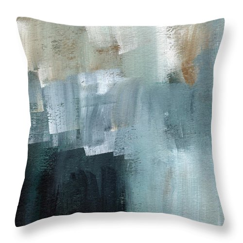 Abstract Art Throw Pillow featuring the painting Days Like This - Abstract Painting by Linda Woods
