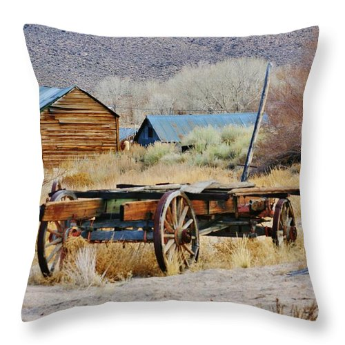 Mountain Throw Pillow featuring the photograph Days Of Yore by Marilyn Diaz