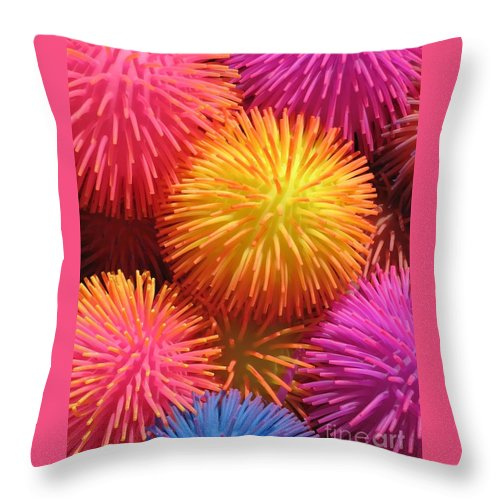 Abstract Throw Pillow featuring the photograph Dazzlers by Ann Horn