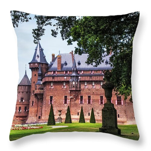 Utrecht Throw Pillow featuring the photograph De Haar Castle 3. Utrecht. Netherlands by Jenny Rainbow