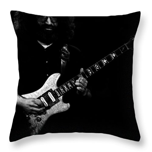 Grateful Dead Throw Pillow featuring the photograph Dead #18 by Ben Upham
