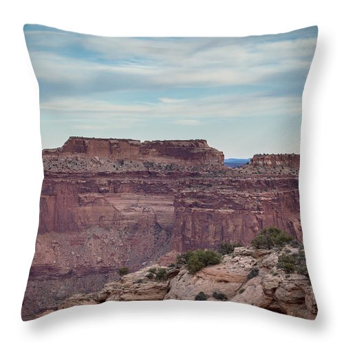 Landscape Throw Pillow featuring the photograph Dead Horse Point State Park 2 by Debra Powell