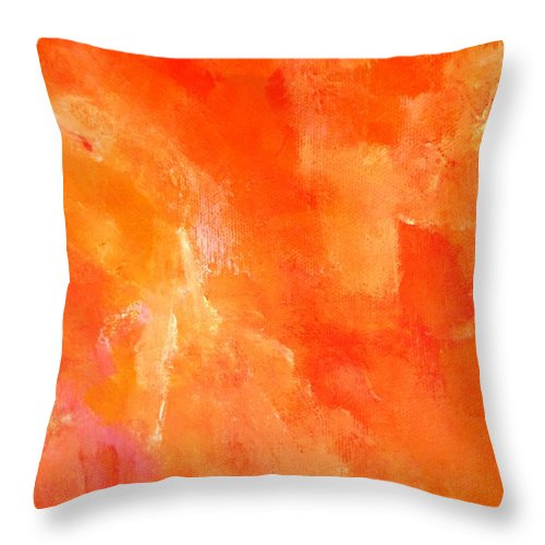 Paintings By Lyle Throw Pillow featuring the painting Death by Lord Frederick Lyle Morris - Disabled Veteran