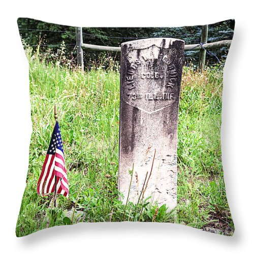 Grave Throw Pillow featuring the photograph Death In Rico Colorado by Janice Pariza