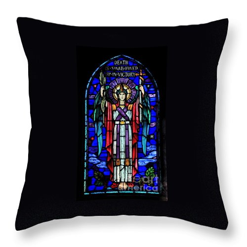 Bible Throw Pillow featuring the photograph Death Is Swallowed Up In Victory by Marcel J Goetz Sr