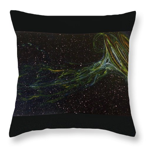 Abstract Throw Pillow featuring the painting Death Throes by Sean Connolly