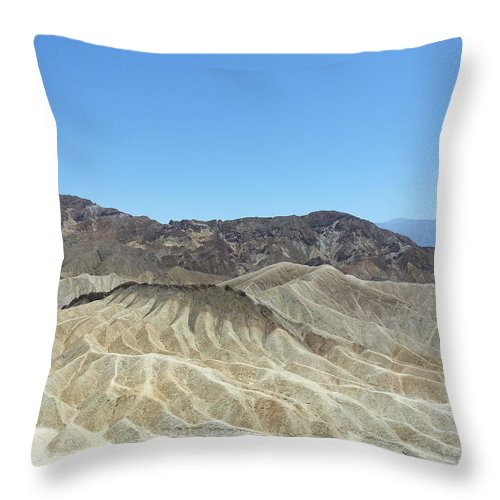 Landscape Throw Pillow featuring the photograph Death Valley by Dee Oviatt-Thames