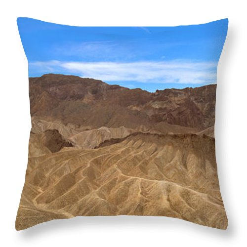 Death Valley Throw Pillow featuring the photograph Death Valley Np Zabransky Point Ca 2 by David Zanzinger