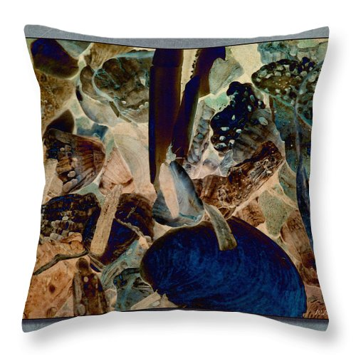 Abstract Throw Pillow featuring the photograph Debris 7 by WB Johnston