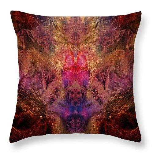 Digital Throw Pillow featuring the digital art Decalcomaniac Mirror by Otto Rapp