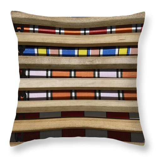 Wendy Throw Pillow featuring the photograph Decked by Wendy Wilton