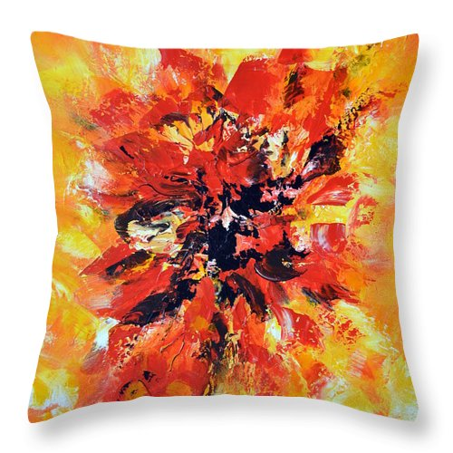 Abstract Throw Pillow featuring the painting Declaration D'amour by Isabelle Vobmann