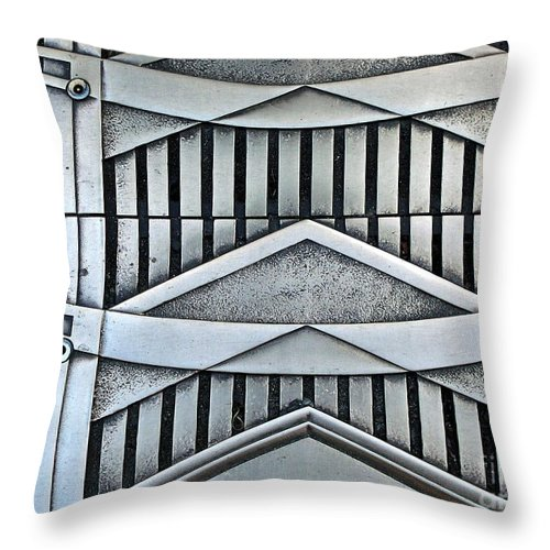 Abstract Throw Pillow featuring the photograph Deco by Newel Hunter