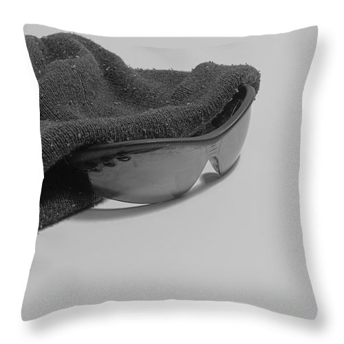 Hat Throw Pillow featuring the photograph Deflated Yet Got Cool Shades by John Rossman