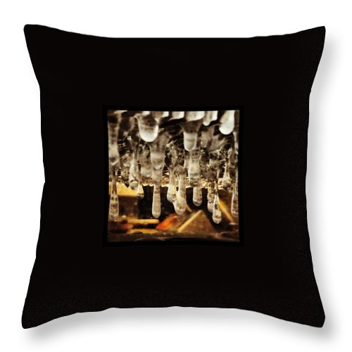 Delicatessen Throw Pillow featuring the photograph Deli Counter Ice by Mark Valentine