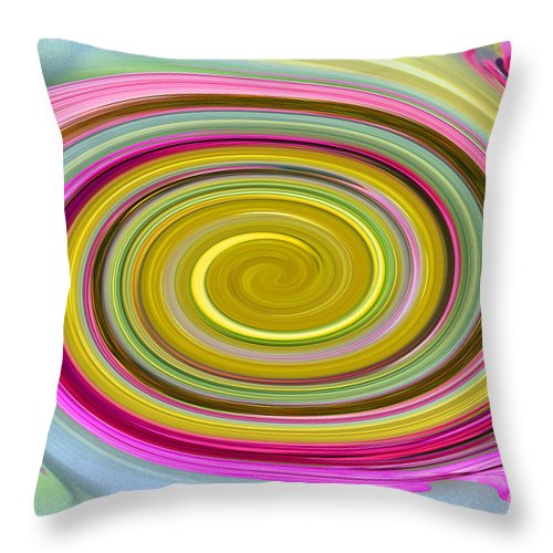 Flower Throw Pillow featuring the photograph Delicate Pink Twirl by Tina M Wenger