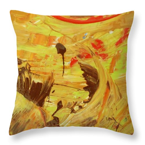 Original Throw Pillow featuring the painting Deliver by Artist Ai