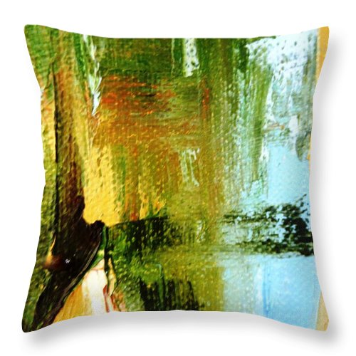Paintings By Lyle Throw Pillow featuring the painting Deliver by Lord Frederick Lyle Morris - Disabled Veteran