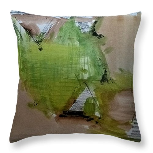 Abstract Throw Pillow featuring the painting Delta Delta by John L Campbell