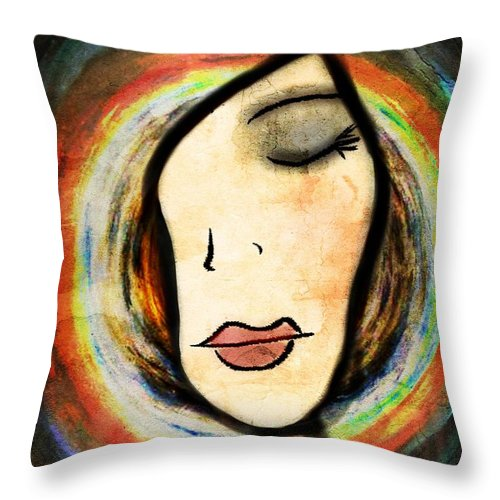 Dream Throw Pillow featuring the drawing Delta by Angelica Smith Bill