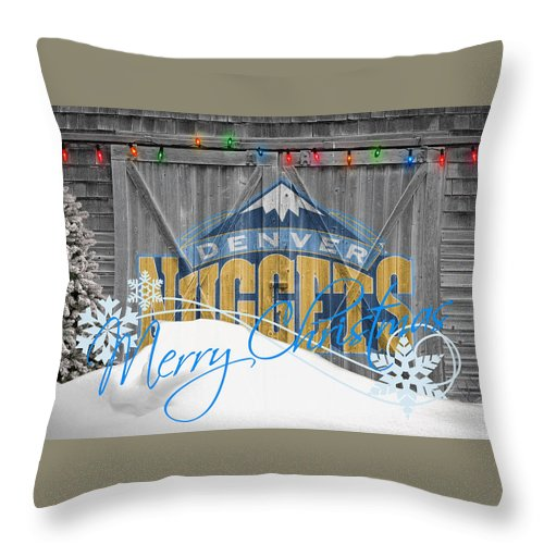 Nuggets Throw Pillow featuring the photograph Denver Nuggets by Joe Hamilton