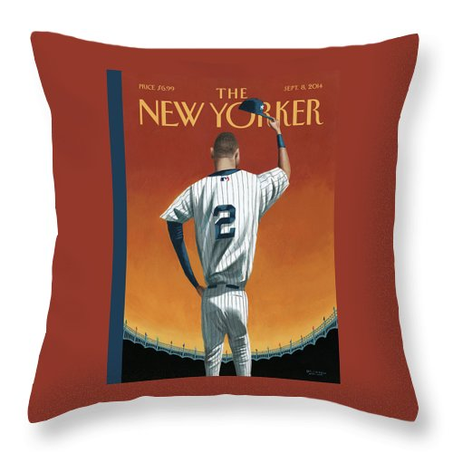 Derek Jeter Bows Out Throw Pillow