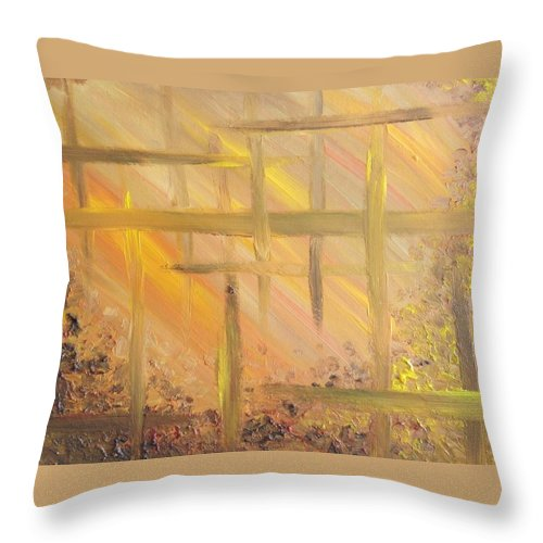 Abstract Throw Pillow featuring the painting Desert Abstract by Noah Babcock