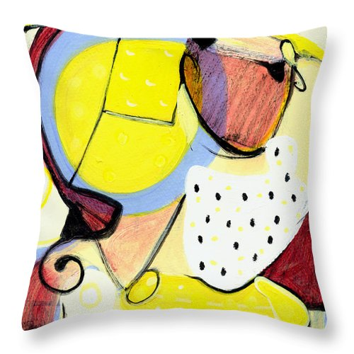 Abstract Art Throw Pillow featuring the painting Desert Bloom by Stephen Lucas