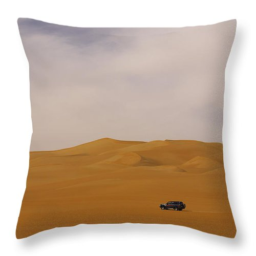 Land Throw Pillow featuring the photograph Desert Driving by Ivan Slosar