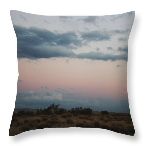 Moon Throw Pillow featuring the photograph Desert Moonrise by Valerie Loop