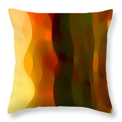 Bold Throw Pillow featuring the painting Desert Pattern 1 by Amy Vangsgard