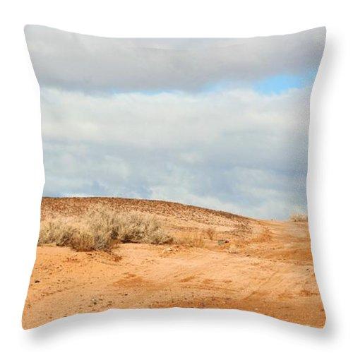 Sky Throw Pillow featuring the photograph Desert Sand by Marilyn Diaz